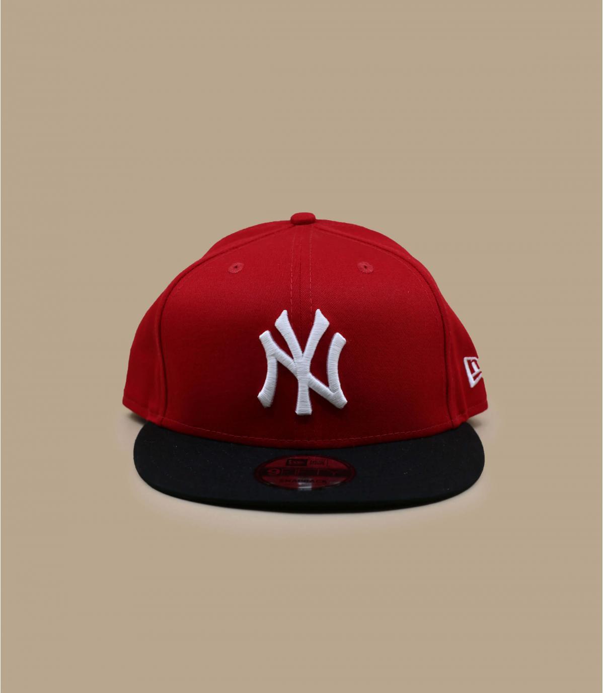 Détails Snapback NY rouge noire - image 2