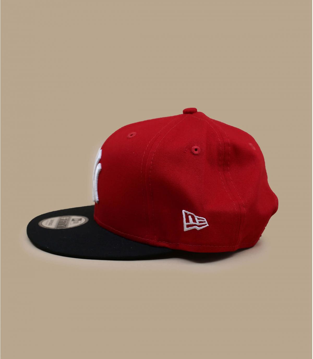 Détails Snapback NY rouge noire - image 3