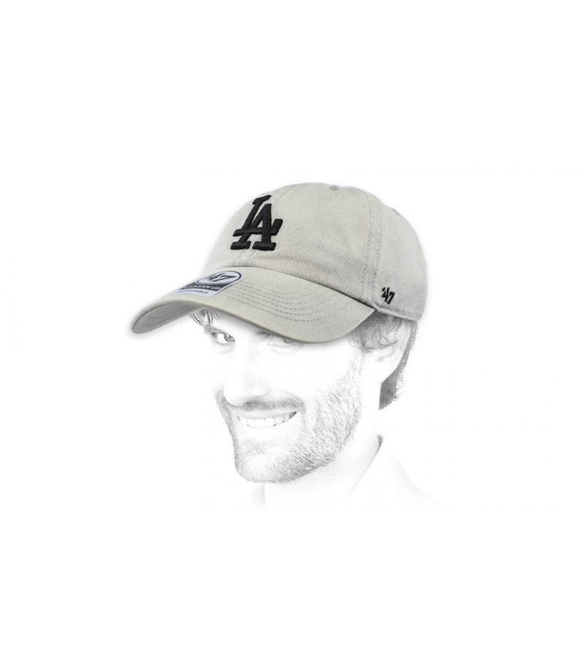 casquette LA gris clair