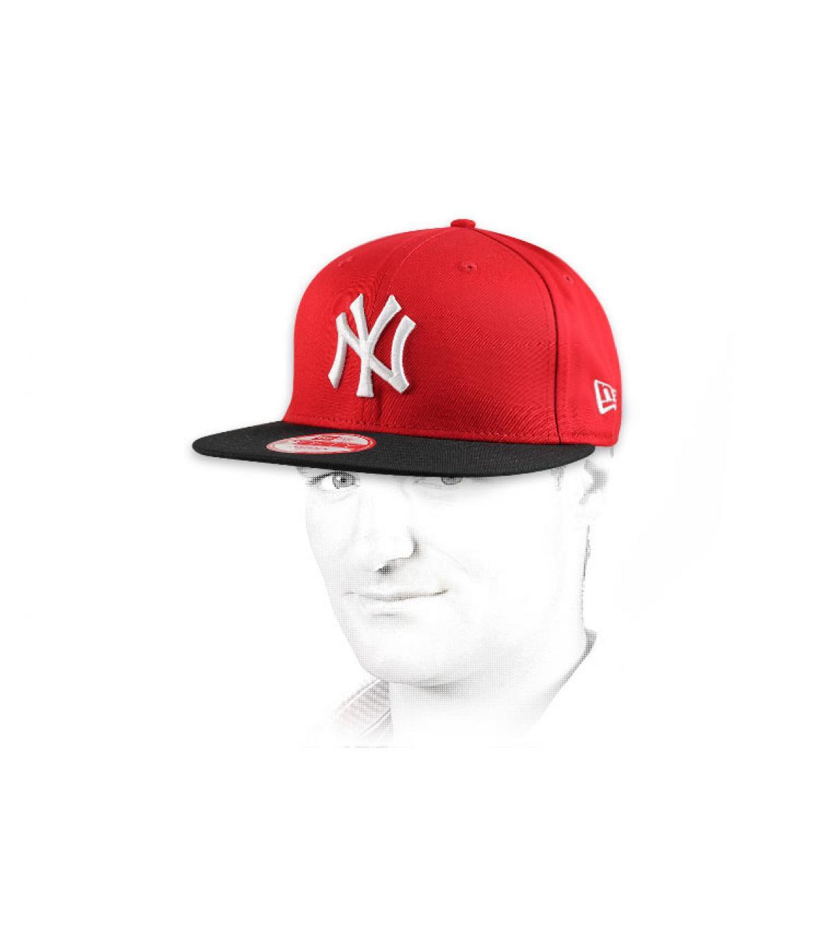 Détails Snapback NY rouge noire - image 5