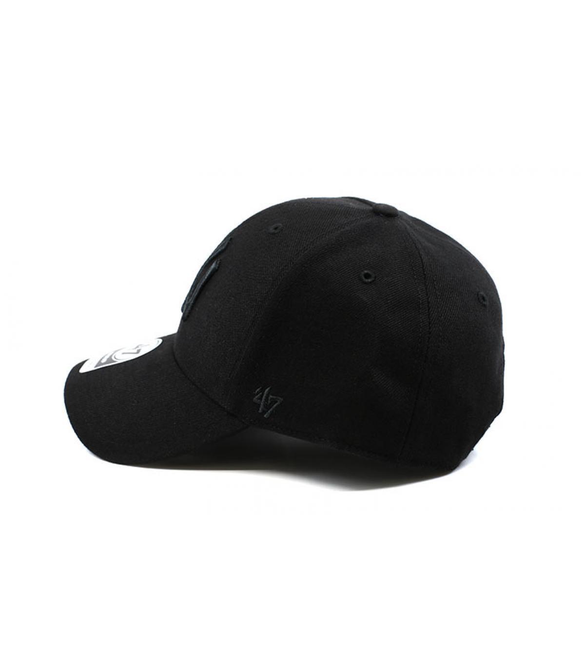 casquette ny noir laine mvp ny snapback all black par 47 brand headict. Black Bedroom Furniture Sets. Home Design Ideas