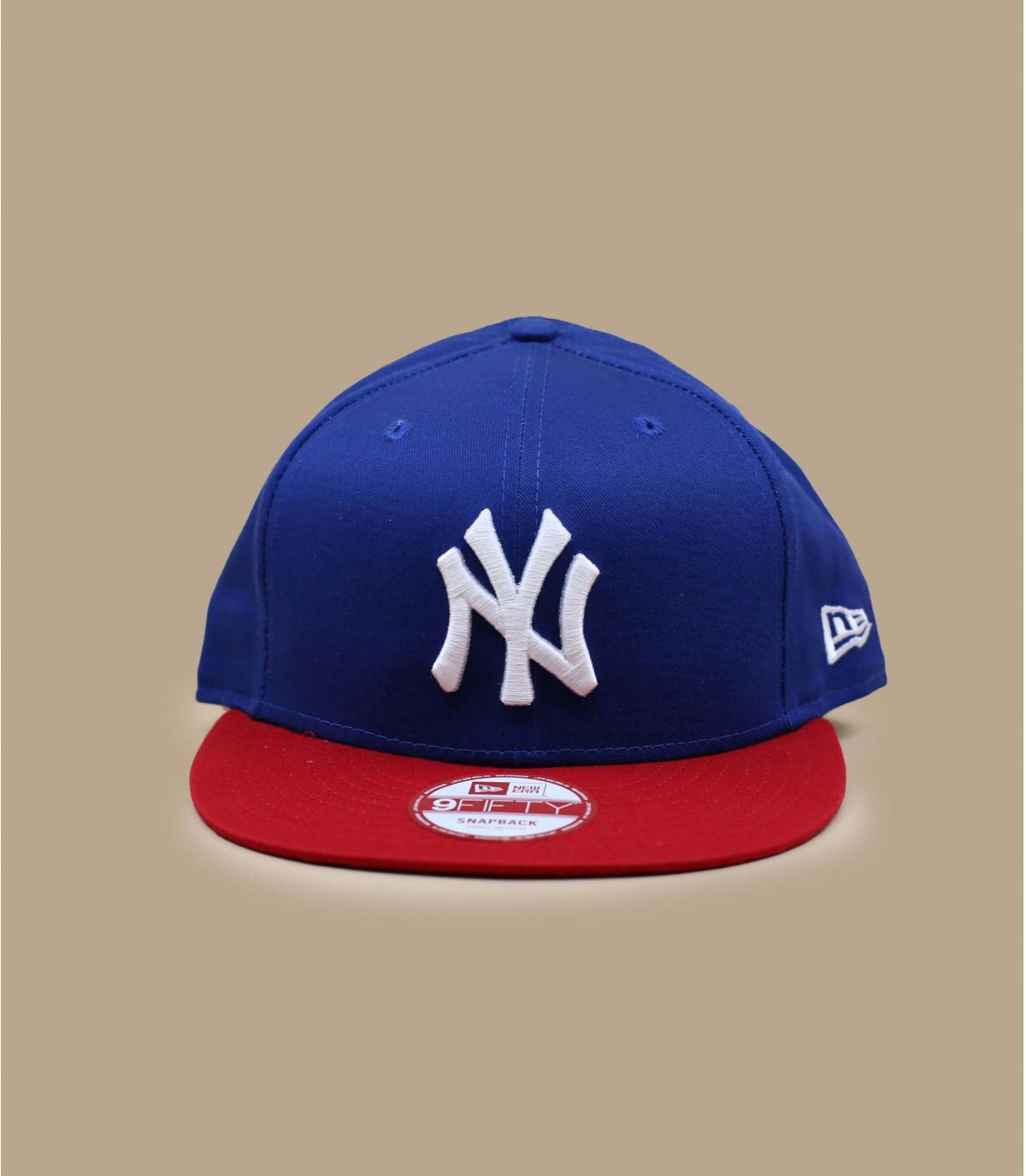 Snapback ny bleue rouge