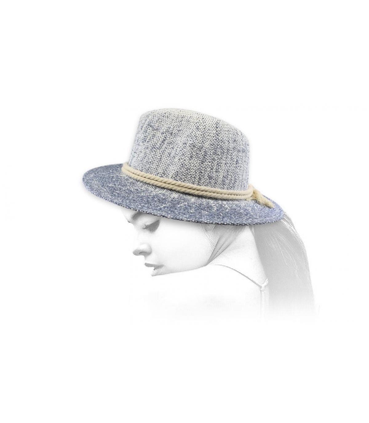chapeau paille corde