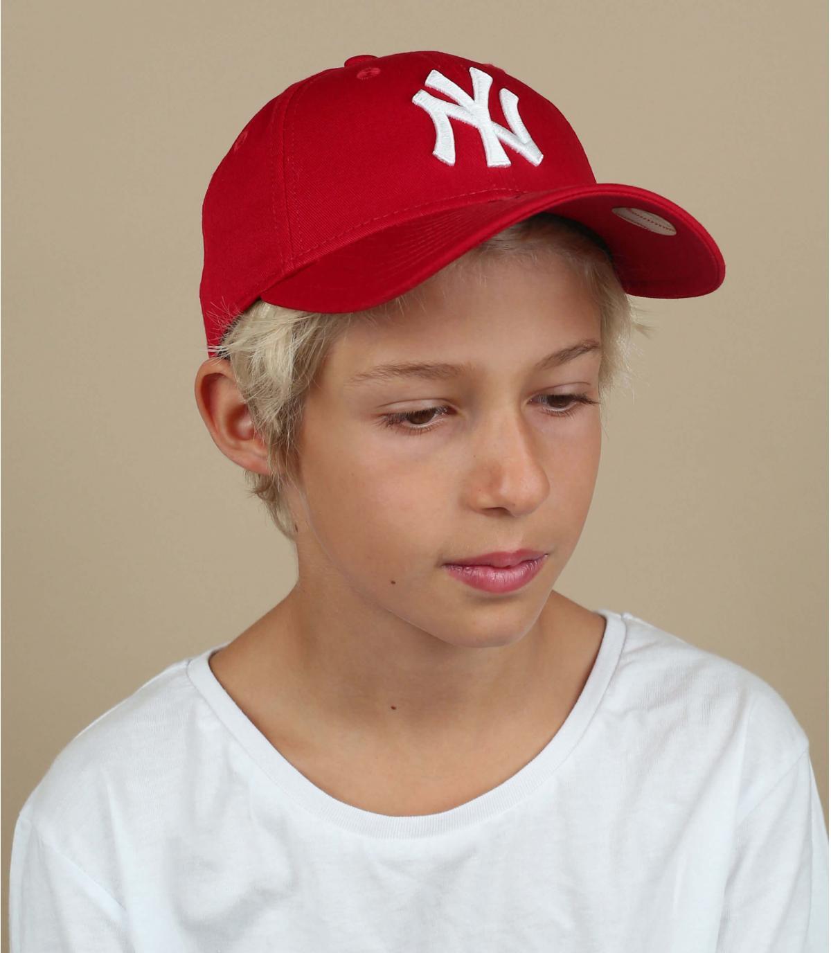 Trucker enfant ny rouge