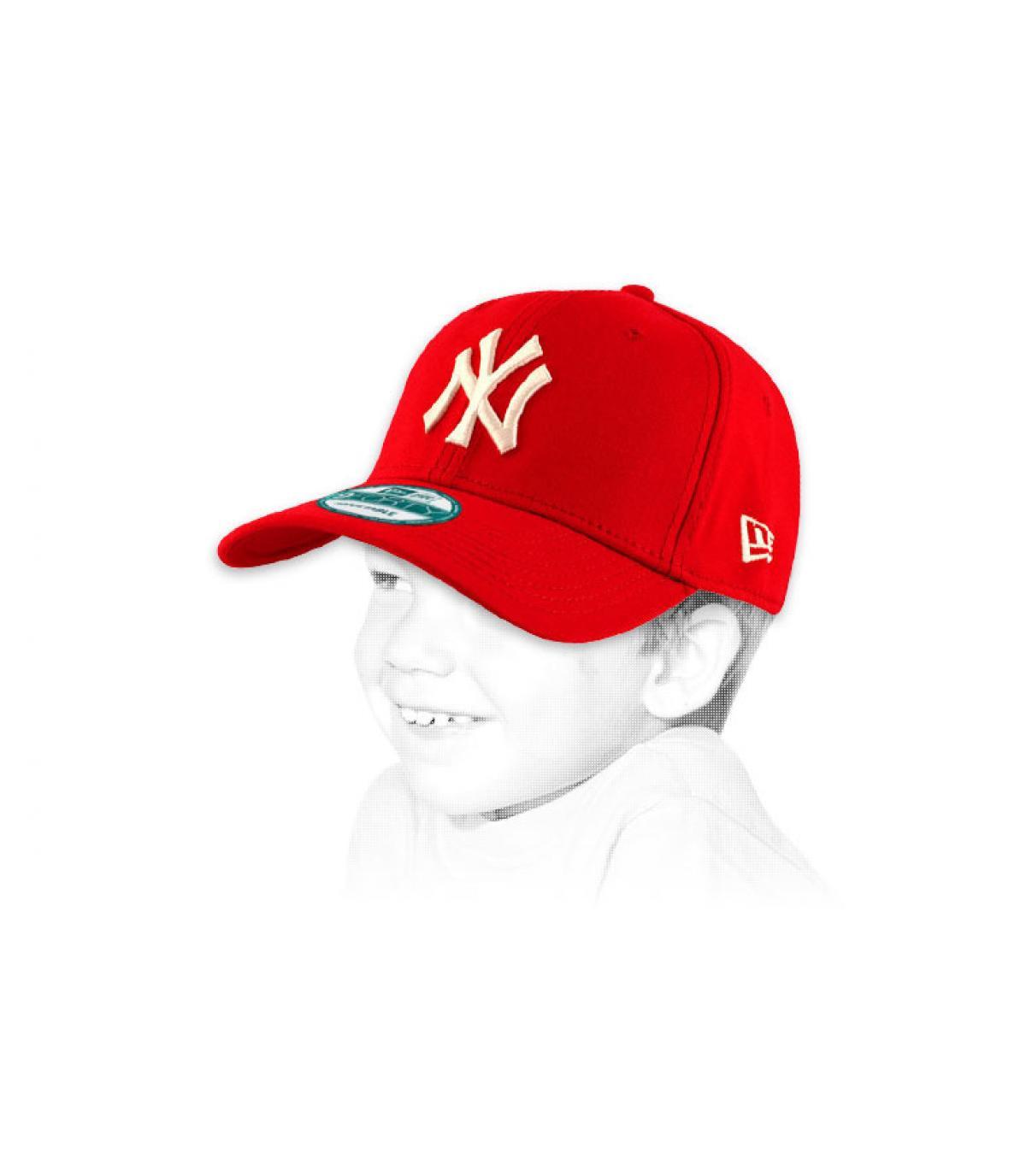 Détails Casquette NY 9forty rouge enfant - image 2