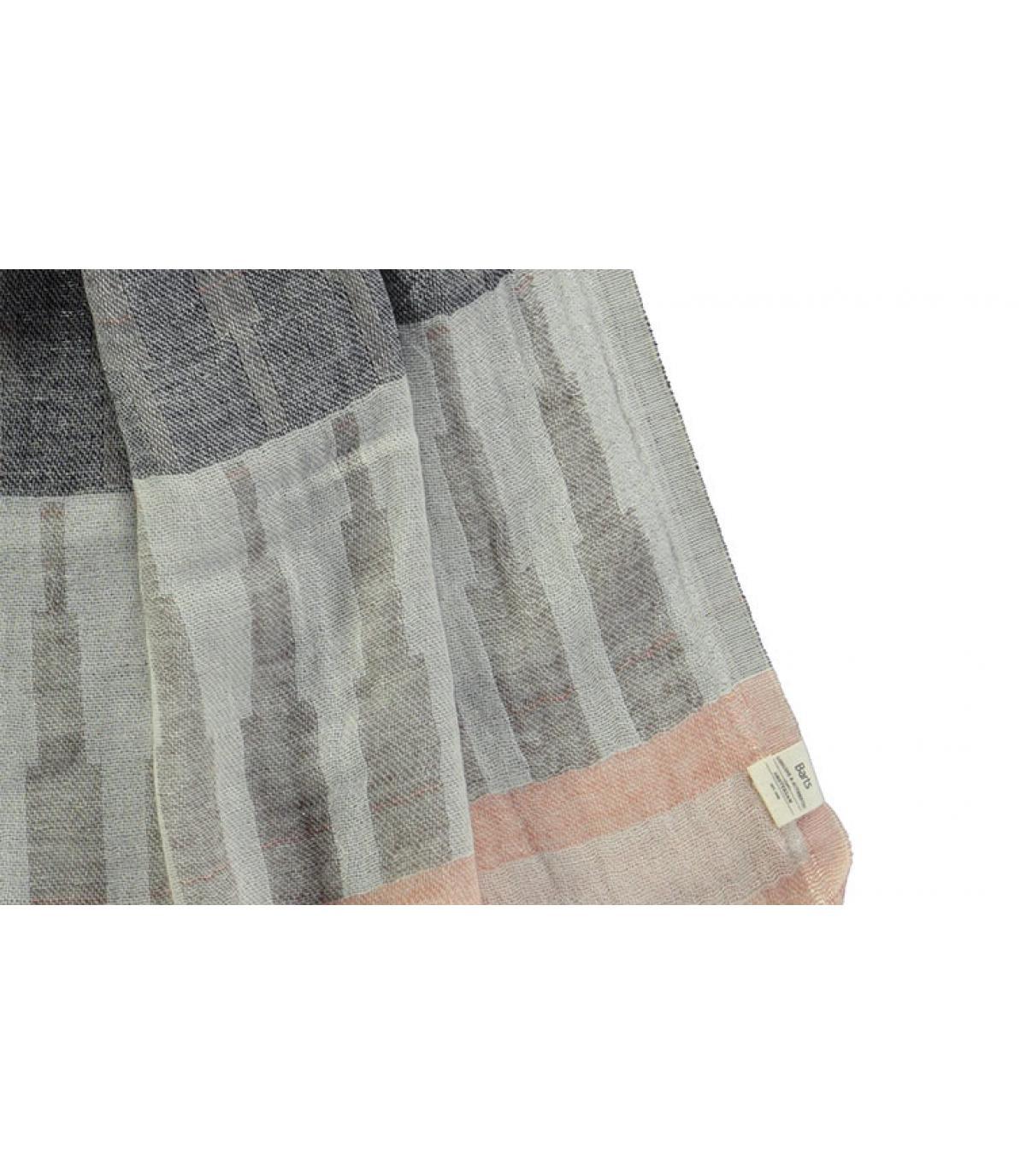 écharpe coton rayures noir