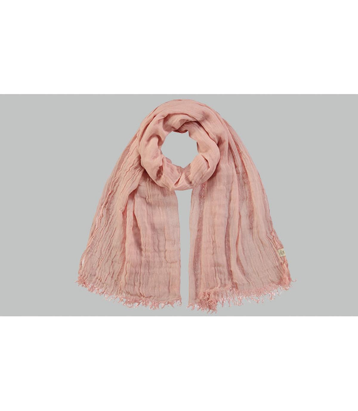 écharpe coton rose