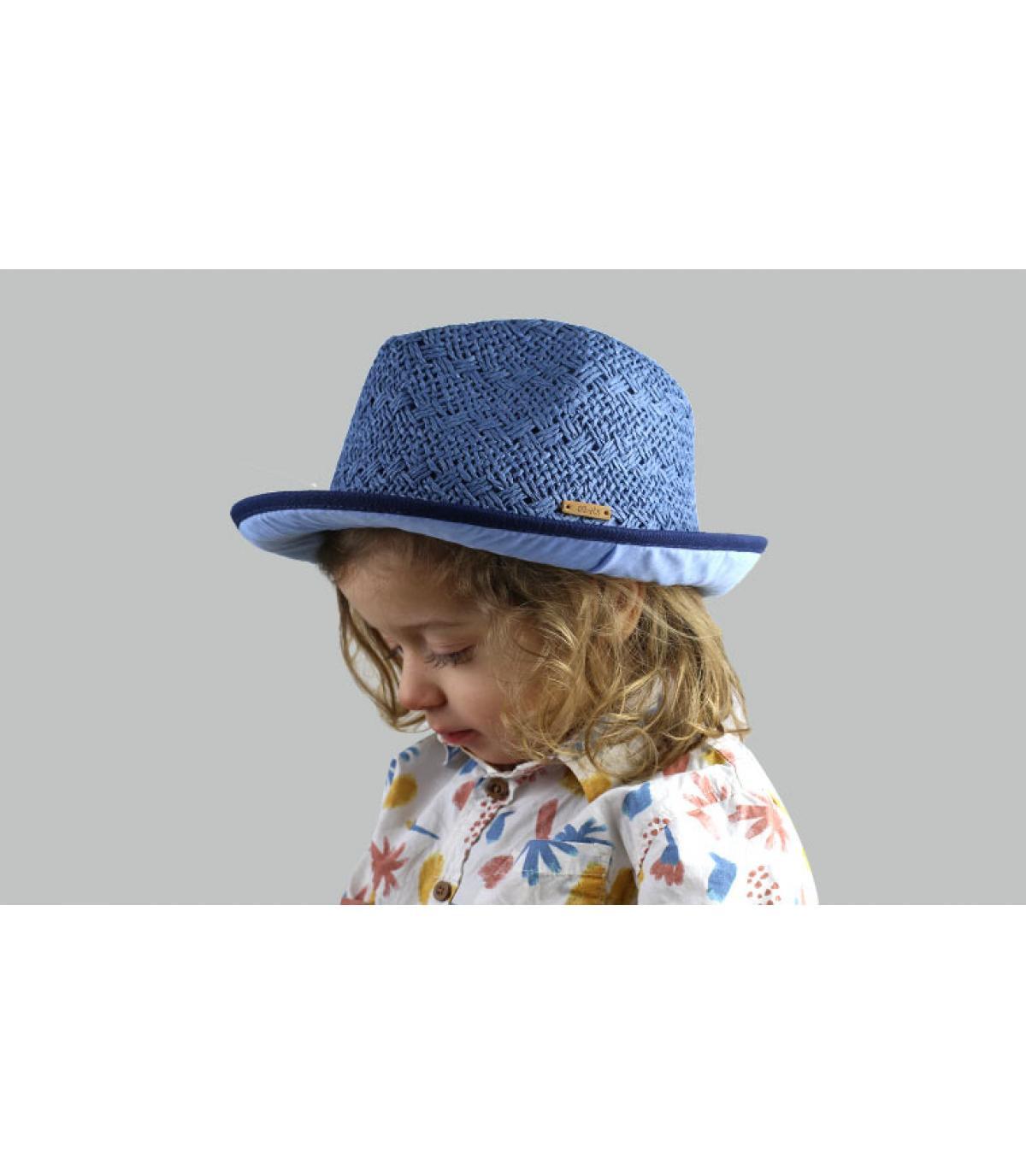 trilby enfant bleu