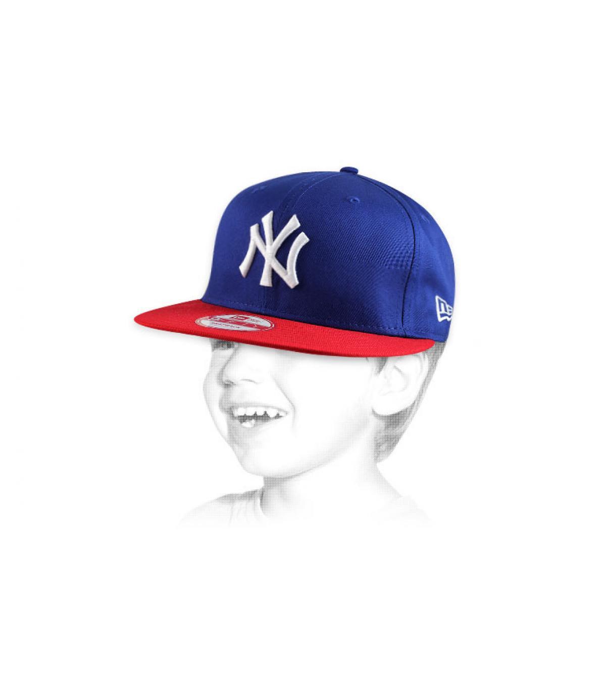 Détails Snapback ny bleue rouge enfant - image 4