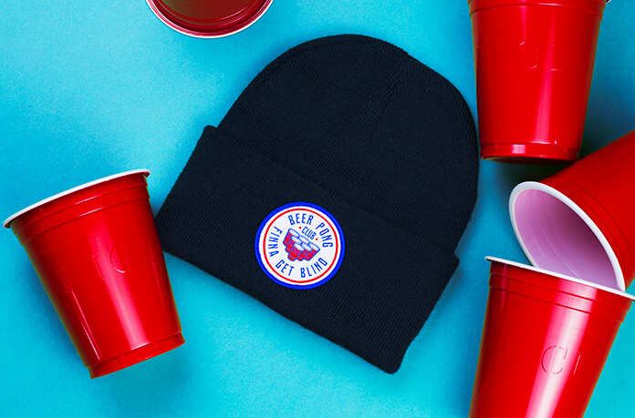 bonnet Beer Pong noir