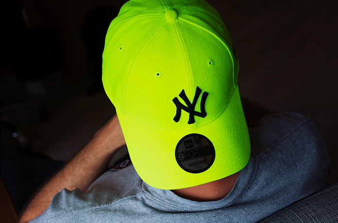 casquette NY jaune fluo