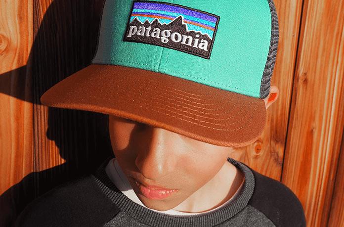 trucker Patagonia enfant vert