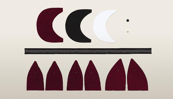 les tapes pour fabriquer une casquette. Black Bedroom Furniture Sets. Home Design Ideas