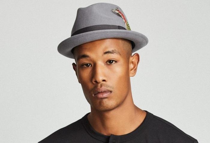 chapeau pork pie gris Brixton